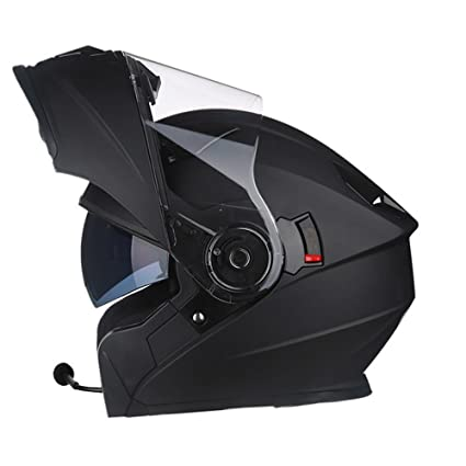 LDZY Cascos Bluetooth Scooter Casco para Hombre Downhill Flip-Up Fullface Cascos Abiertos Face Safety