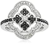 10k Black and White Diamond Ring (3/8cttw, H-I Color, I2-I3 Clarity), Size 6