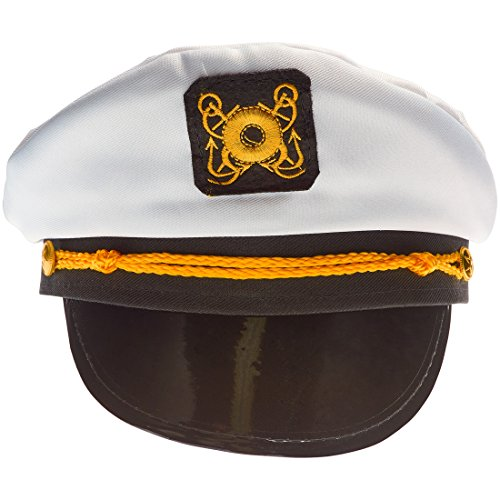 NJ Novelty Yacht Captain Hat Skipper Sailor Adult Costume Accessory, Set of 2 Hats by NJ Novelty (Image #4)