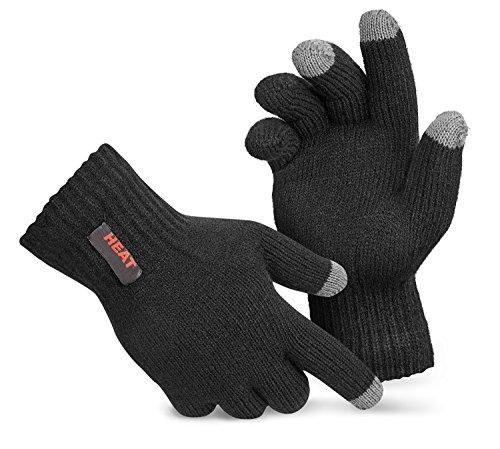 Thermo Handschuhe mit Touchscreen Funktion Screen Gloves extra warm TOG 1.9 Schwarz S/M