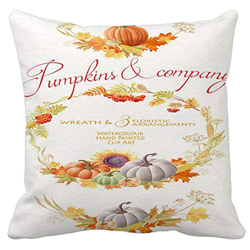 Clearance! Halloween Pumpkin Throw Pillow Cover Comfortable Couch Cushion Case Decorative 18