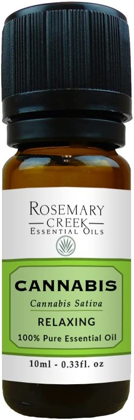 Cannabis Essential Oil (Cannabis Sativa) – 100% Pure and Natural – Great Relaxing Properties – by Rosemary Creek Essential Oils (10 ml (1/3 oz))
