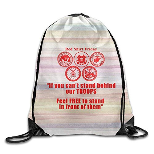 Drawstring Bag Red Shirt Friday Front Backpack Bag by crystars