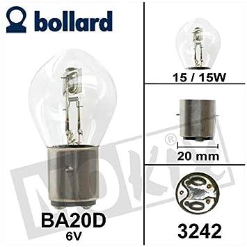 Markenlampe GL/Ã/œWO Germany Biluxlampe 6V 15//15W Ba20d