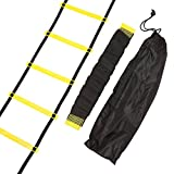 Ireav Durable 9 rung 16.5 Feet 5M Agility Ladder for Soccer and Football Speed Training With Carry Bag Fitness Equipment Ladders