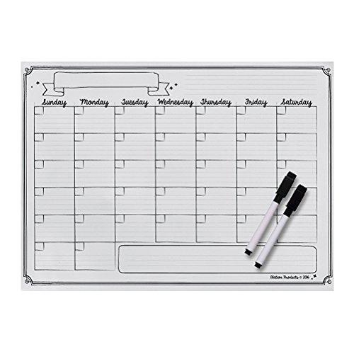 Nevera Magnético calendario, calendario mensual con 2marcadores de borrado en seco, impermeable planificador de lista de...