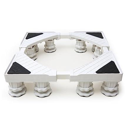 ZXLDP Lavadora carretilla ajustable Base multifunción para lavadora Base de doce pies y soporte para nevera