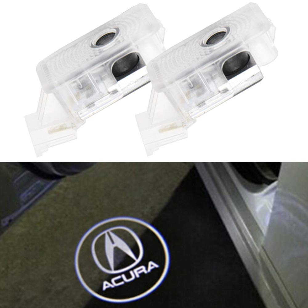 hlzala 4pcs Car Door Ghost Shadow Light Logo Projector Courtesy Lights (4pcs Audi)