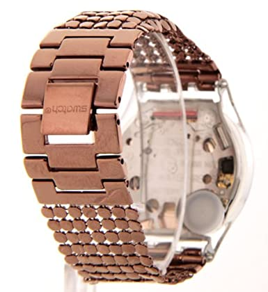 Amazon.com: Swatch SFK129B Womens Swatch Paved In Bronze Swiss Slim Dress Mesh Band Watch: Watches