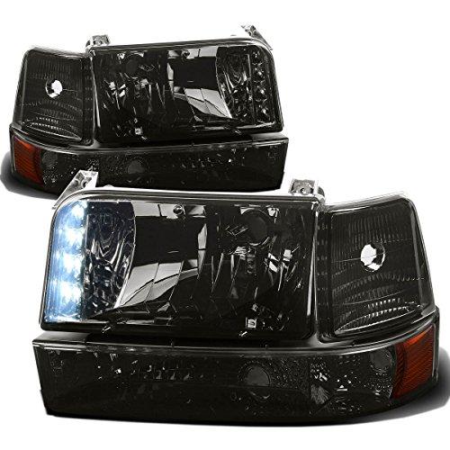 Ford F-Series/Bronco Pair of LED Headlight+Bumper Lamp+Signal Light (Smoke Lens Amber Corner)