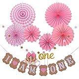 Godagoda I AM ONE Banner Baby Birthday Party Decoration - 1Set