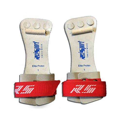 Mens High Bar Grips - Reisport Elite Protec Hook & Loop Grips - High Bar (0 (up to 6.5