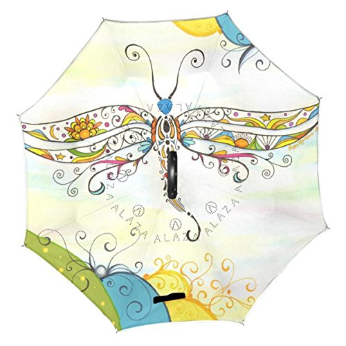 AchimeDES Creative Double Layer Inverted Reverse Umbrella, W
