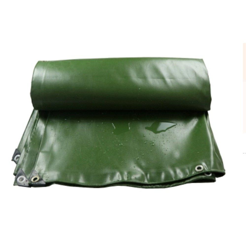 DNSJB Telo Impermeabile in PVC Protezione Antipioggia Protezione Contro Le intemperie Protezione Antipioggia per Camion Impermeabile verde -0.7MM, Tarpaulin di qualità Premium (Dimensioni   5  7m)