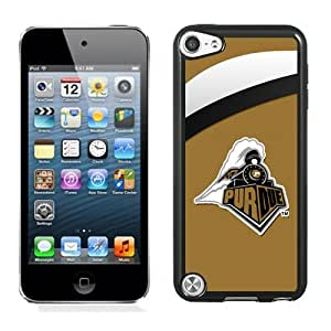 Popular And Durable Designed Case With Ncaa Big Ten Conference Football Purdue Boilermakers 15 Protective Cell Phone Hardshell Cover Case For iPod Touch 5 Phone Case Black
