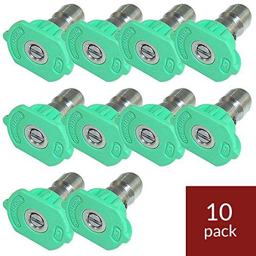 - General Pump 9.803-812.0 Green QC Nozzle 10pk 25045 (25 Degrees, Size #045)