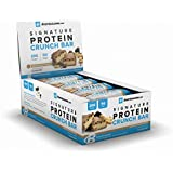 BodyBuilding.Com Signature Protein Crunch Bar | 20g Whey Protein Low Sugar | Gluten Free No Artificial Flavors | 12 Bars (Chocolate Peanut Butter)