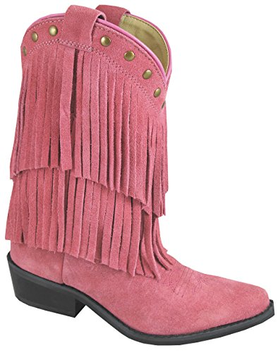 Rökiga Flickor Wisteria Dubbel Frans Tan Western Boot Pink