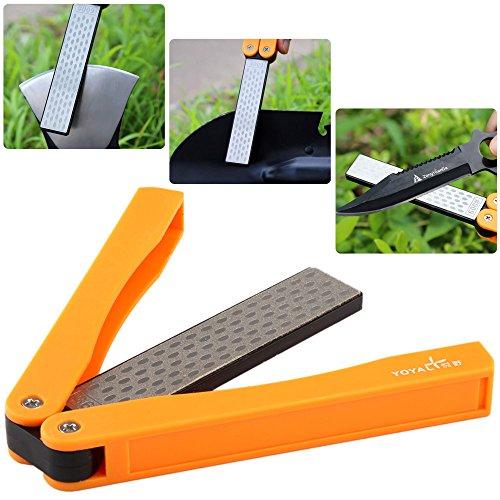 - Portable Sharpener Folding Grit Diamond Knife Sharpener,Foldable Grindstone Handheld Sharpener Double Side Knife Sharpening Stone