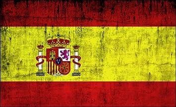 Vintage de la bandera de España adhesivo (Distressed Español Espana): Amazon.es: Coche y moto