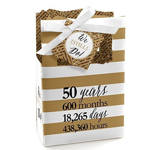 Anniversary Party Favors (We Still Do - 50th Wedding Anniversary Party Favor Boxes - Set of 12)
