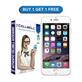 CELLBELL® Tempered Glass Screen Protector For Apple iPhone 6 Plus (2in1) With FREE Installation Kit