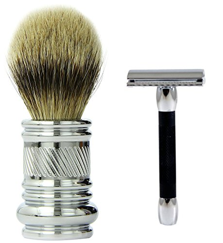 MGS Bundle Merkur-Razor Shaving Brush Chrome & More buying choices for Merkur 30C Safety Chrome/Black Razor by MyGroomingSupplies
