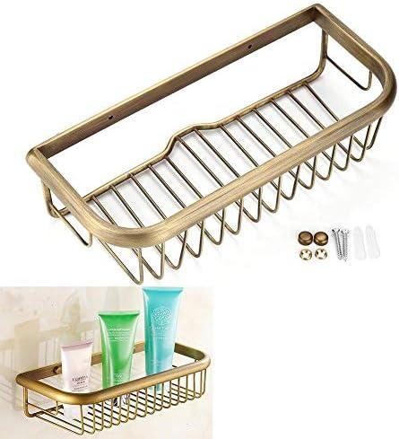 収納ラック棚 30センチ固体銅シャワーバスケットバスソープシャンプー収納ホルダーウォールマウント浴室の棚 家のホテルの装飾のため