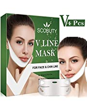 V Mask,V Face Mask,V Shape Mask,V lifting Mask,V Line Mask Chin Up Patch Double Chin Reducer V Shaped Neck Face Up Slimming Tightening Mask 4 PCS