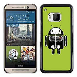 Exotic-Star ( Cute Android Skeleton ) Fundas Cover Cubre Hard Case Cover para HTC One M9