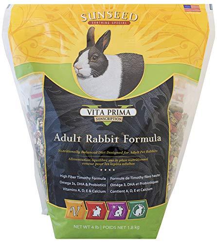 Sunseed 49080 Vita Prima Sunscription Adult Rabbit Food - High Fiber Timothy Formula, 4 ()