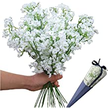 12pcs Artificial flowers Gypsophila Baby's Breath Bouquet Silk Baby Breath Flowers for Home Wedding Party Decorations Pretty Flowers