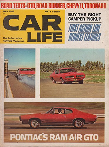 (Car Life Magazine May 1968 Pontiac's Ram Air GTO cover)