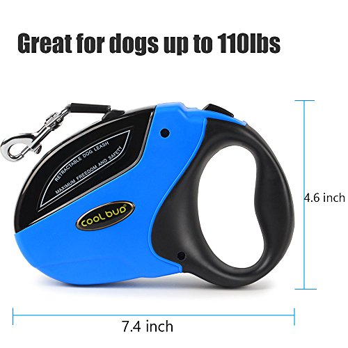 Retractable Dog Leash,Heavy Duty 16 Foot Extended Dog Walking Leash Adjustable with Break and Lock Button-Sturdy Nylon Ribbon Cord,Tangle Free,Suitable for Small,Medium and Large Dogs Up to 110 Lbs by PetsKing (Image #4)