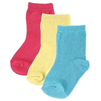 3-Pack Fashion Socks for Baby, Bold Pink, 0-6 months