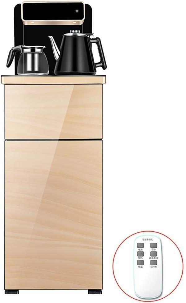 LLAMN インテリジェントタッチウォームダブルダブルドアウォーターディスペンサー、下のバケツ、304ステンレス鋼自動水デスクトップ家庭用ウォーターディスペンサー (Color : A, Size : Hot and Cold type)