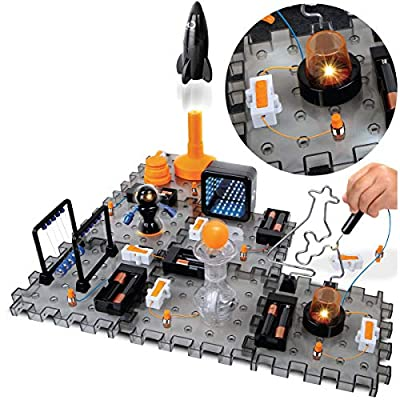 Discovery #MINDBLOWN Action Circuitry Electronic Experiment STEM Set, Build-it-Yourself Engineering Toy Kit, Explore the Science of Lights, Sounds & Motion, 6 Experiments, Great Gift for Kids Ages 8 +: Toys & Games