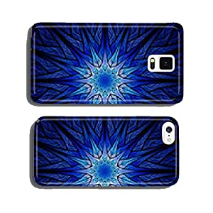 Blue glowing winter ornament cell phone cover case Samsung S5