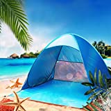 Cheap Sinwo Clearance Portable 2 Person Fully Automatic Set-up Camping Tents Beach Shade Tent Speed Open Outdoor UV Protection Outdoor Use (Blue)