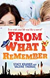 Front cover for the book From What I Remember by Stacy Kramer
