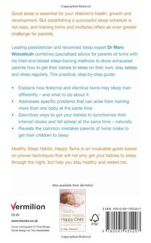 Healthy sleep habits happy twins a step by step programme for healthy sleep habits happy twins a step by step programme for sleep training your multiples amazon dr marc weissbluth 9780091935207 books ccuart Gallery