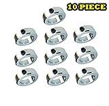 1-11/16'' Bore Solid Steel Zinc Plated Shaft Collars Set Screw Style (10 PCS)