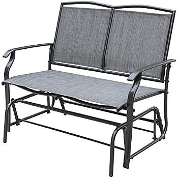 Amazon Com Sundale Outdoor 2 Person Loveseat Glider Bench