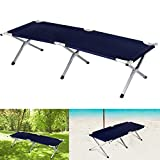 Inditradition Portable Folding Camping / Picnic Recliner, Cot - (74 x 24 x 17 Inches), Aluminium Frame