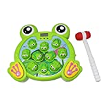 CatchStar Wack a Mole Frog Fast Reflexes Whack Game Language Learning Durable Musical Whac Wackamole Educational Toys for Kids