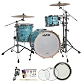 Ludwig USA LK7243KXTQ Turquoister 3-Pc Shell Pack w/ Accessories, Bass Drum Pedal & Drumheads