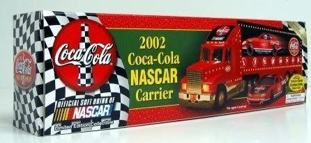 2002 COCA COLA COKE NASCAR CARRIER TRUCK WITH RACE CAR