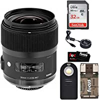 Sigma 35mm F1.4 ART DG HSM Lens for CANON DSLR Cameras + Sigma USB Dock + 32GB SD CARD