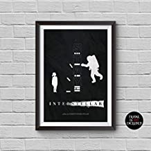 Interstellar Minimalist Poster A Christopher Nolan Alternative Movie Print Matthew McConaughey Space Universe Planets Film Illustration Collectibles Artwork Wall Art Home Decor Wall Hanging