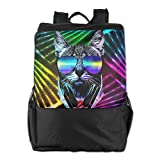 Lightweight Outdoor Daypack Durable Hip Hop DJ Cat Travel Hiking Backpack